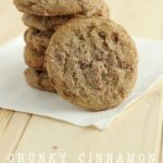 Chunky Cinnamon Snickerdoodles - a yummy twist on an old classic cookie recipe! from Crafting E for thirtyhandmadedays.com