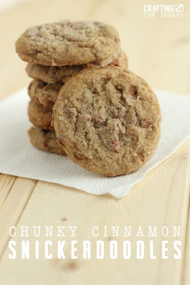 Chunky Cinnamon Snickerdoodles - a yummy twist on an old classic cookie recipe!