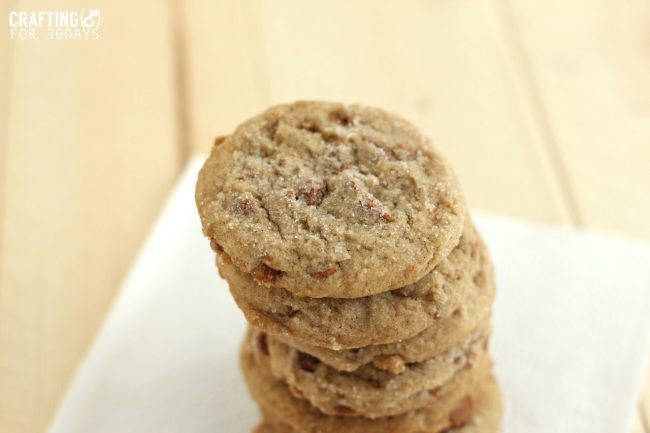 Chunky Cinnamon Snickerdoodles - a yummy twist on an old classic cookie recipe! from Crafting E for Thirty Handmade Days