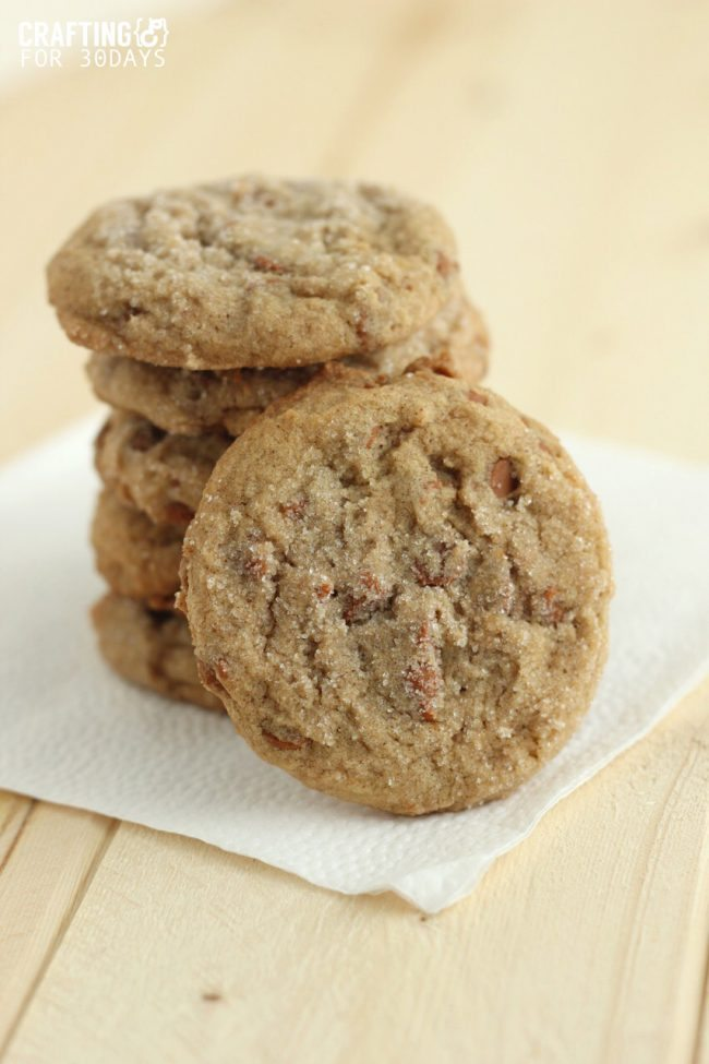 Chunky Cinnamon Snickerdoodles - a yummy twist on an old classic cookie recipe! from Crafting E via Thirty Handmade Days
