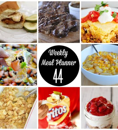 Weekly Meal Planner Week #44- recipes to help you prep your week from some of your favorite bloggers