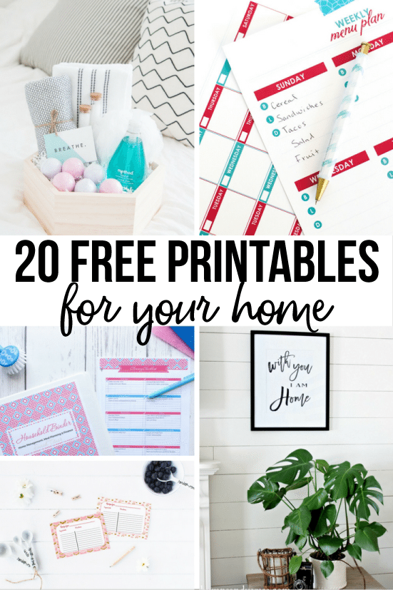 photograph regarding Free Printables for Home identified as 20 Absolutely free Printables for Your Household
