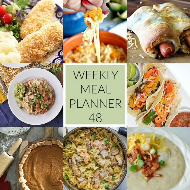This week for dinner- weekly meal planner #48. We've got this week's dinners all figured out for you! www.thirtyhandmadedays.com