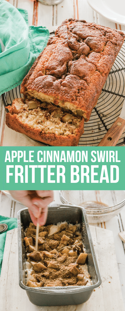 Food and Drink: Apple Swirl Cinnamon Fritter Quick Bread - an amazing quick bread for the fall. You will love this one from www.thirtyhandmadedays.com