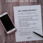 Kids and parenting: 5 Cell Phone Etiquette Tips for Teens from www.thirtyhandmadedays.com