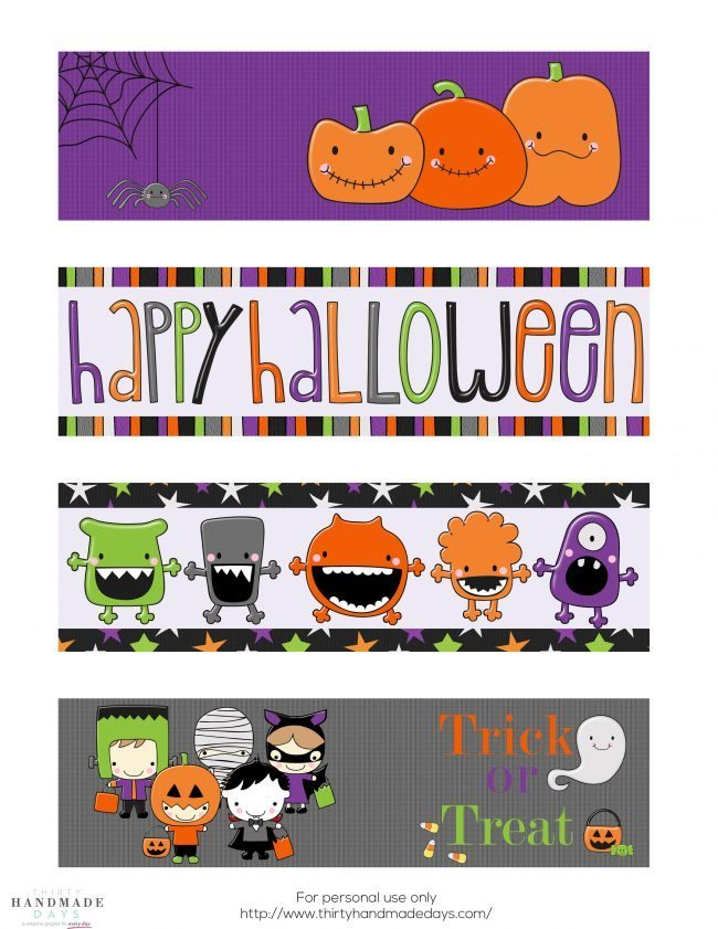 Non Candy Halloween Idea- Printable Bookmarks: these are great for classroom treats! www.thirtyhandmadedays.com