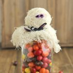 Halloween Mummy Mason Jar Gift