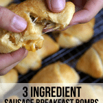 3 Ingredient Sausage Breakfast Bombs