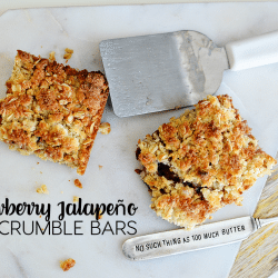 Strawberry Jalapeno Oat Crumble Bars - an amazing recipe from Iceland using Smuckers Fruit & Honey Jam from www.thirtyhandmadedays.com