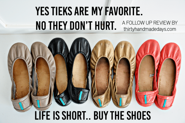 Tieks - a follow up review by Thirty Handmade Days - great flats for travel, and to wear anywhere!