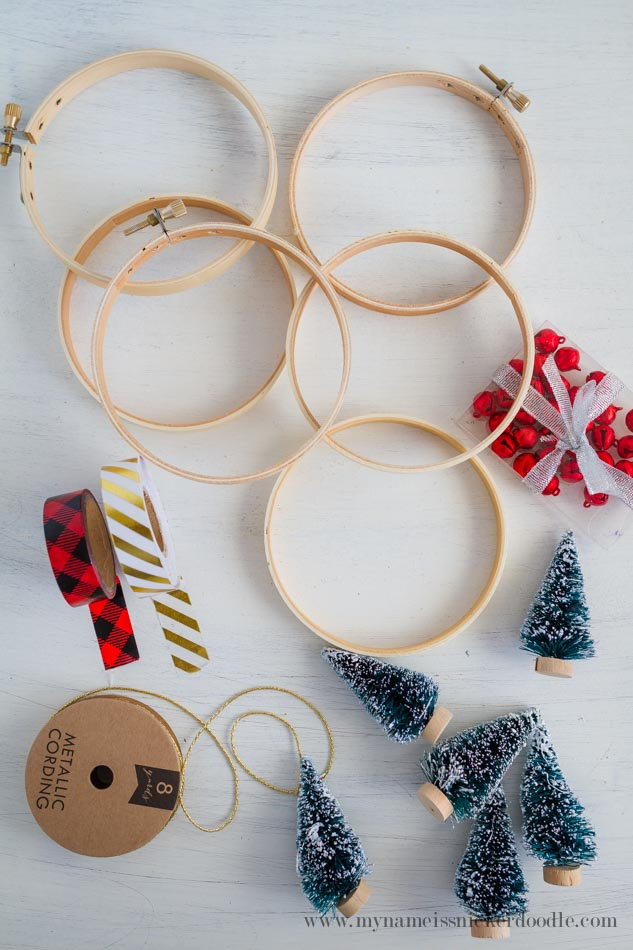 Adorable Christmas Tree Ornaments are super easy and inexpensive to make!