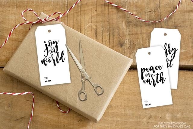 Holidays: Adorable printable Christmas gift tags to use this holiday season. From Live Laugh Rowe via www.thirtyhandmadedays.com