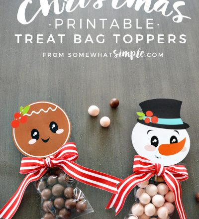 Holidays: Christmas Printables Treat Bag Toppers - these are too cute to make for the holidays!