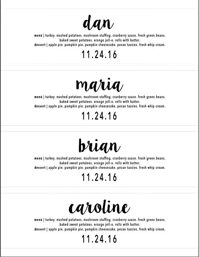 dress up your table and help guests find their seat with these simple diy thanksgiving menu - Thanksgiving Place Cards