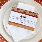 Simple DIY Thanksgiving Menu Place Cards