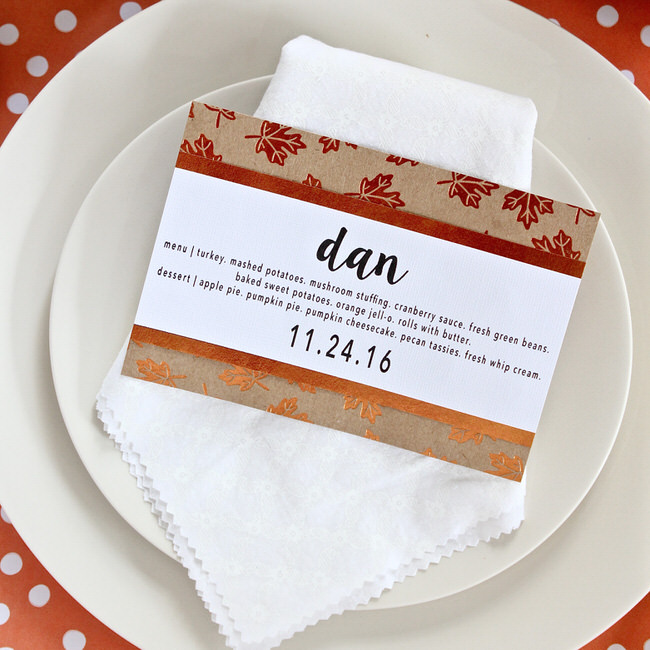 Simple Diy Thanksgiving Menu Place Cards Thirty Handmade