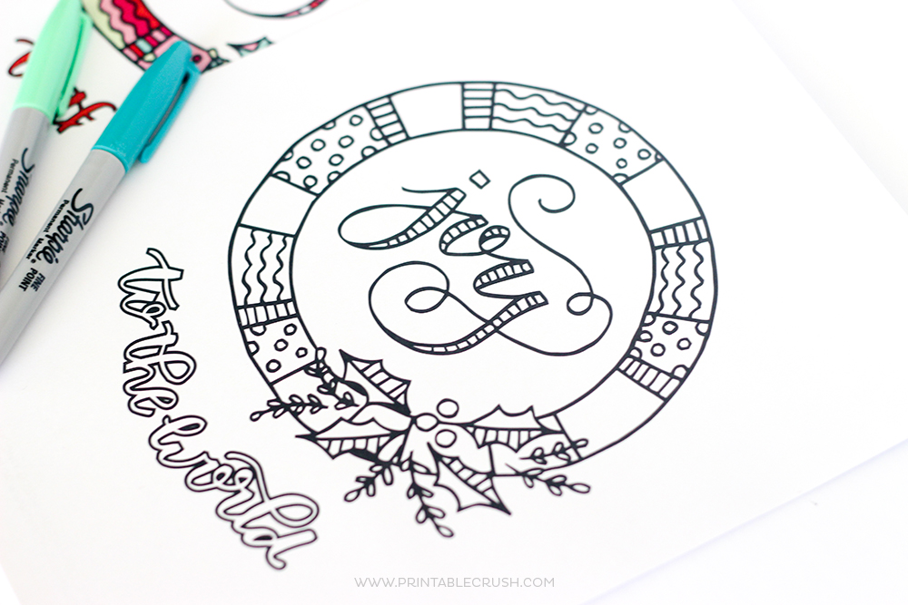 print off some of these free printable christmas coloring pages for a fun activity for kids