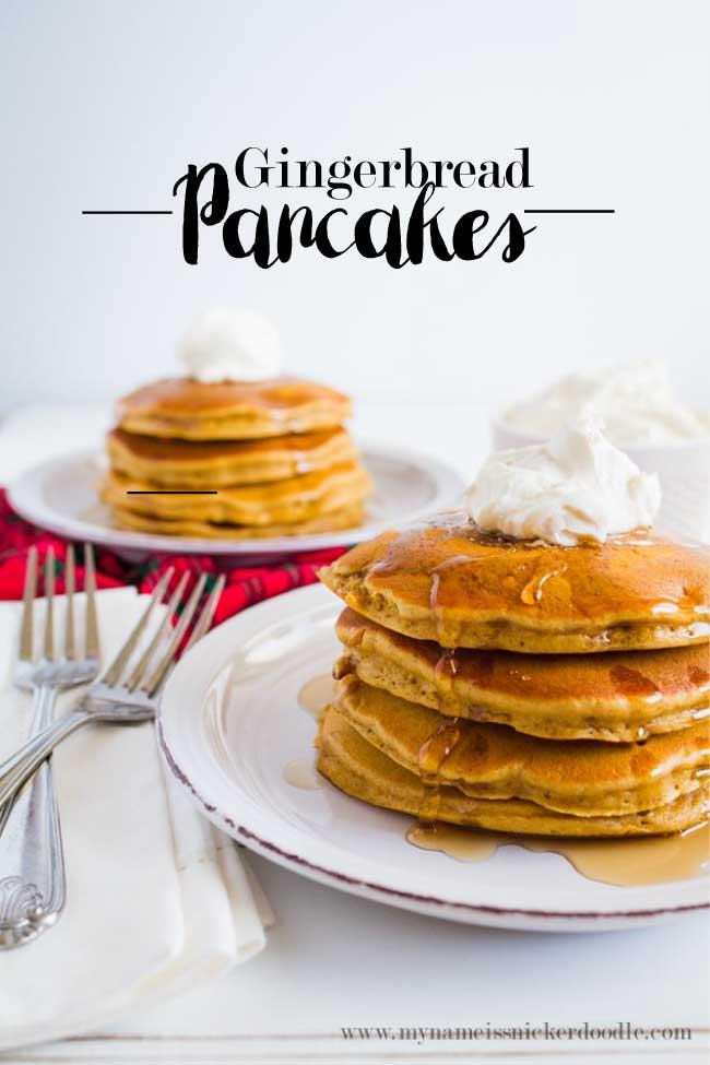 Holiday breakfast recipe gingerbread pancakes