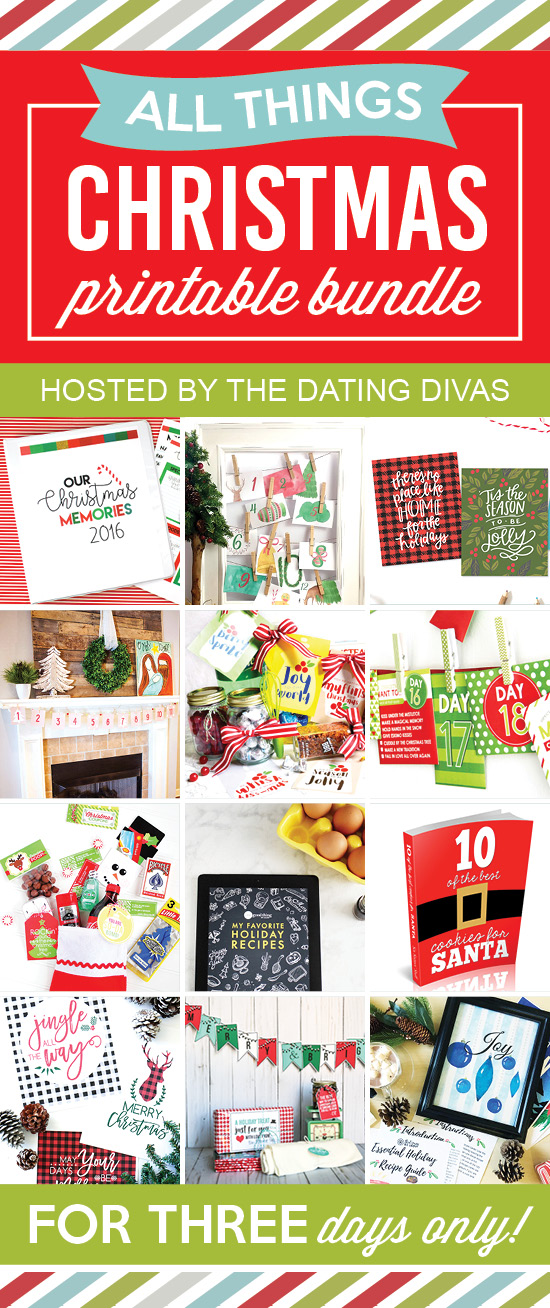 Holidays: All Things Christmas Printable Bundle - get in on something so fun for the holidays with this printable pack!
