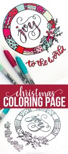 Christmas Coloring Pages - download these cute pages to celebrate the holidays. from www.thirtyhandmadedays.com