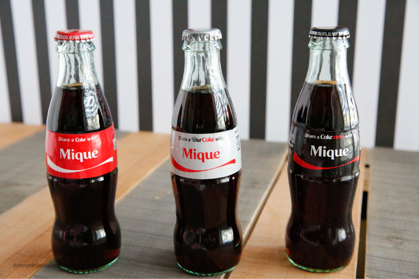 Share a Coke giveaway - enter to win this giveaway and get personalized bottles of Coke