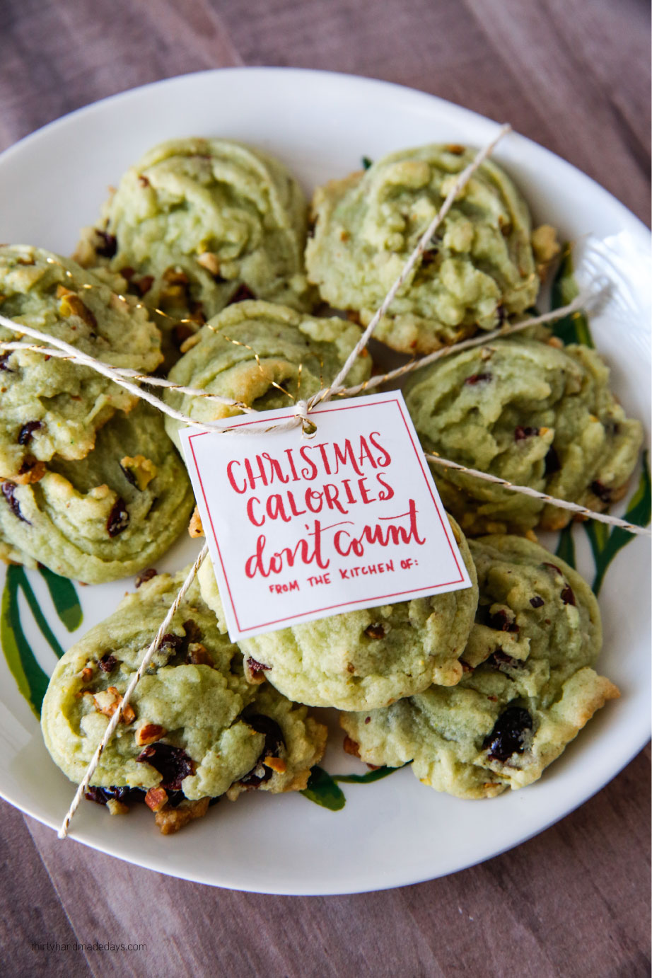 Holidays: Amazing Christmas Cookies that are super easy to make.  We love these Cranberry Pistachio Cookies so much!  from thirtyhandmadedays.com