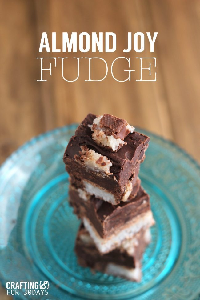 Food: Almond Joy Fudge - using only a handful of ingredients, make this tasty treat for the holidays!