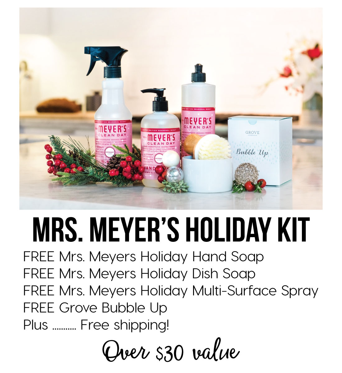 Awesome Mrs. Meyer's Holiday Kit Offer