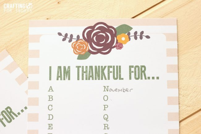 Thanksgiving Gratitude Printable - print this out and fill it in for the holiday! From Crafting E.