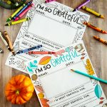"Updated ""I'm grateful for.."" Thanksgiving Coloring Pages"