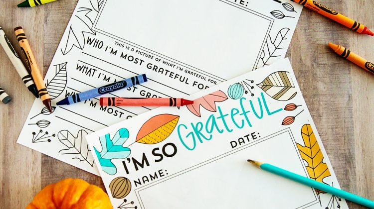 "Holidays: ""I'm so grateful for ......"" Thanksgiving printable fill in. You can use this for kids or adults via www.thirtyhandmadedays.com"