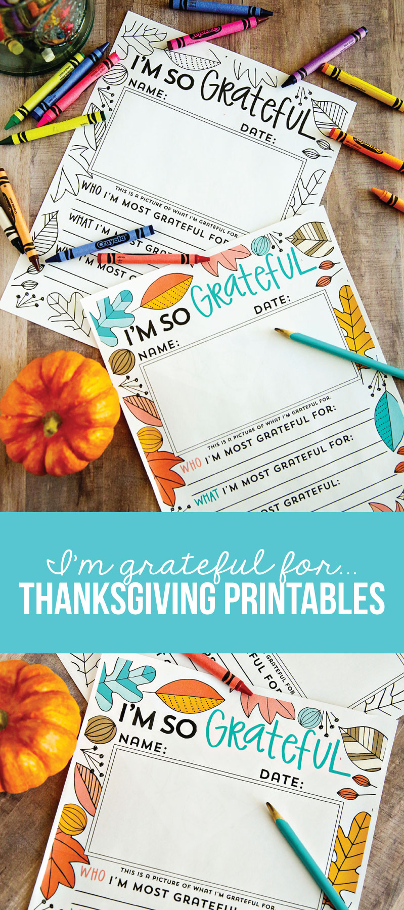 I'm so grateful for ... Thanksgiving Coloring Pages from www.thirtyhandmadedays.com