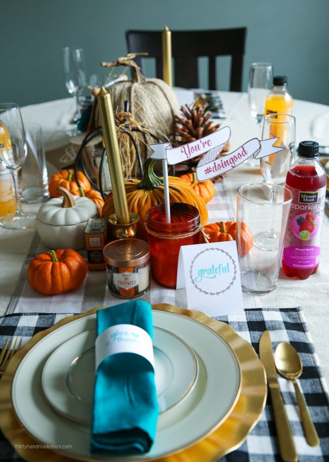 Holidays: Thanksgiving Printables to use for the special day. Download, print and fill in! You're #doingood with Minute Maid via www.thirtyhandmadedays.com