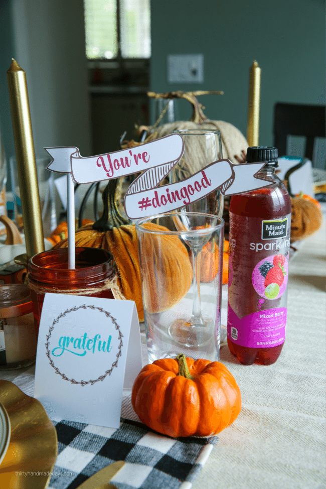 Holidays: Thanksgiving Printables to use for the special day. Download, print and fill in! You're #doingood with Minute Maid via thirtyhandmadedays.com