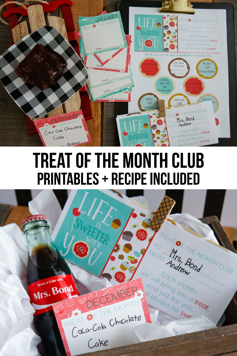 Treat of the Month Club - in partnership with Coke, a sweet gift idea to celebrate someone throughout the year. Perfect for the holidays and Christmas! via www.thirtyhandmadedays.com AD