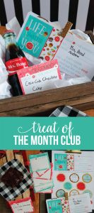 Treat of the Month Club - fun gift idea for the holidays with printables included. www.thirtyhandmadedays.com