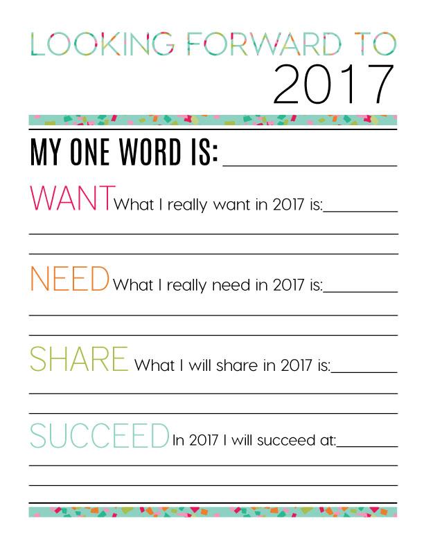 Looking Forward to 2017 - New Year's Eve Resolutions from www.thirtyhandmadedays.com