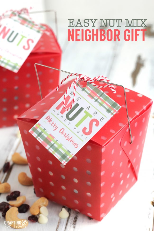 Holidays: Easy Nut Mix Neighbor Gift - make this super simple treat for Christmas an to celebrate the holidays!