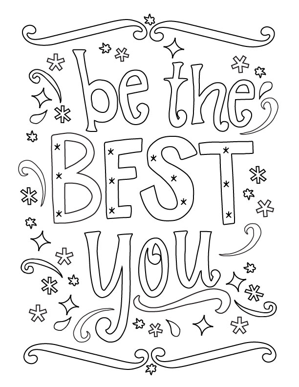 Printable New Year Coloring Page - Be the Best You! Start off the new year with a bang! www.thirtyhandmadedays.com