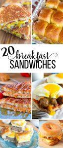 20 Breakfast Sandwich Recipes to Try Out! www.thirtyhandmadedays.com