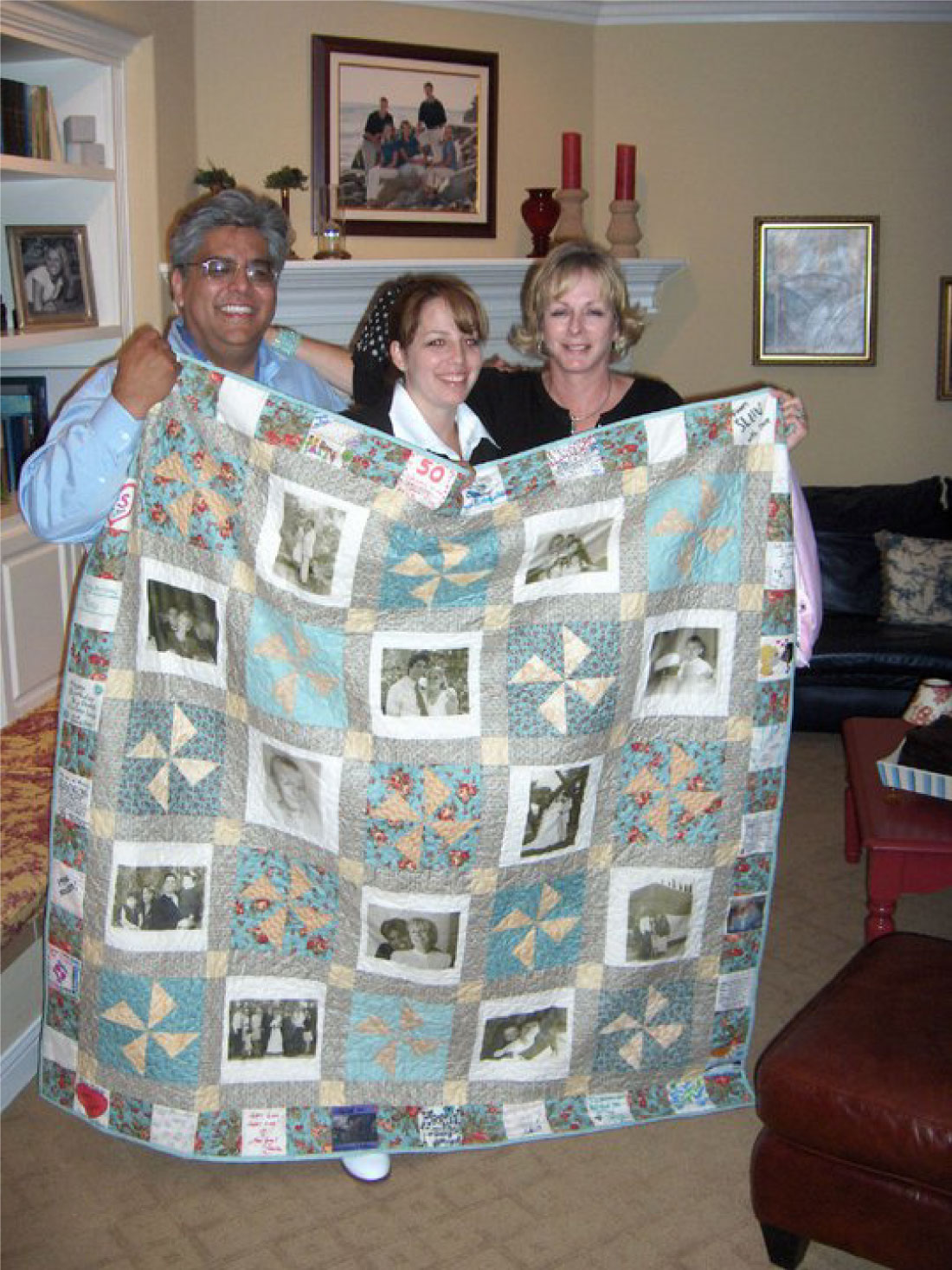 Dad, me and Mom - quilt gift