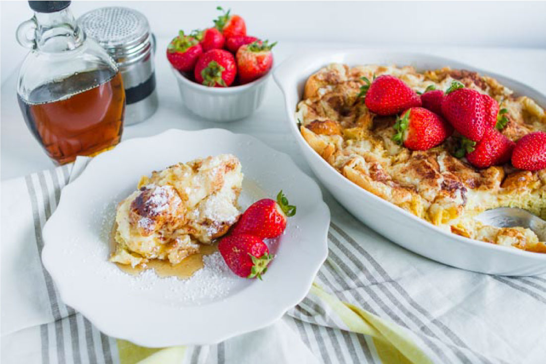Yum! This French Toast Souffle is such a treat for breakfast in the morning. You make it ahead and then indulge the morning of. thirtyhandmadedays.com