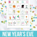 2016-2017 Printable New Year's Eve BINGO Sheets