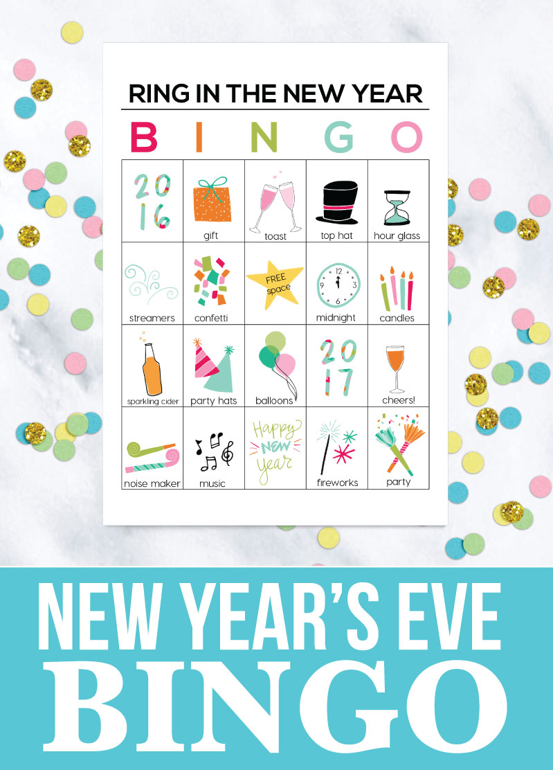 Holidays: Printable New Year's Eve BINGO Sheets! Help ring in the new year with these fun printables. thirtyhandmadedays.com