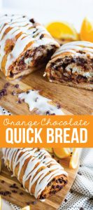 Orange Chocolate Bread Recipe - make this quick bread recipe for the holidays to share with family and friends.
