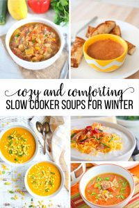 Cozy and Comforting Slow Cooker Soup Recipes - these recipes will warm you right up! www.thirtyhandmadedays.com