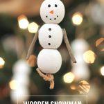 Wooden Rustic Snowman Ornaments