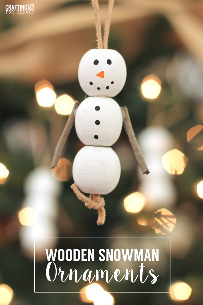 Holidays: Wooden Snowman Ornaments - fun activity for Christmas with your kids!