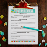 2016 Printable Year in Review for New Year's Resolutions for Kids www.thirtyhandmadedays.com
