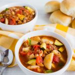 Food: Gabriel's Goulash - the perfect dinner recipe that will keep you nice and warm. www.thirtyhandmadedays.com